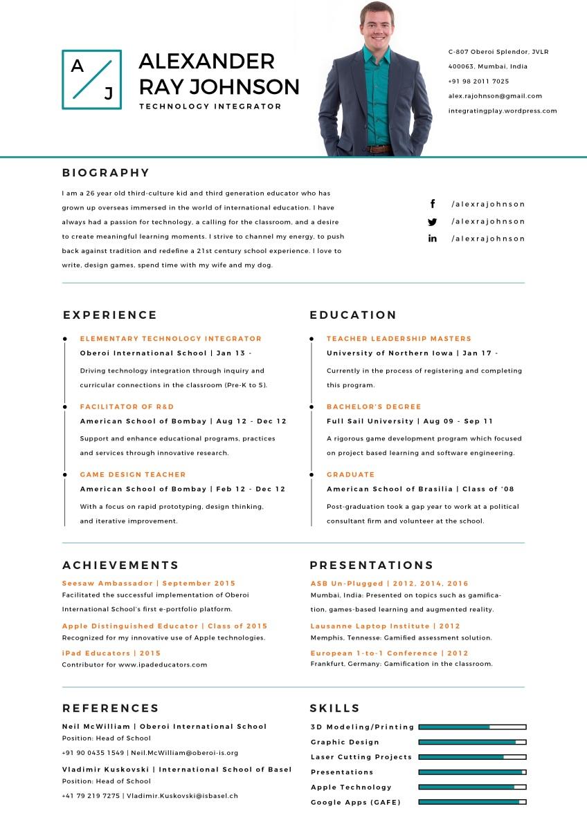 Minimalistic Resume Design